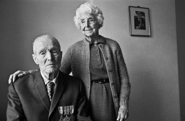 Alf Razzell - 8th Royal Fusiliers & wife Winnie, they met in Watford 1916
