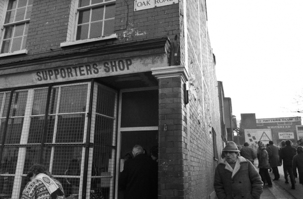 The supporters club shop in Oak Road