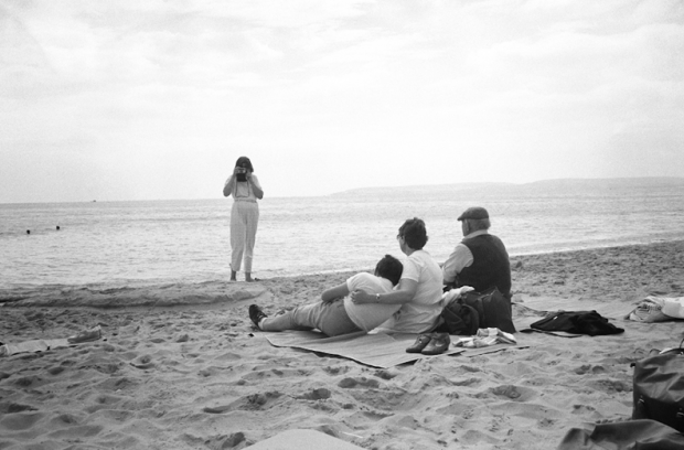 A family photograph on Bournemouth beach