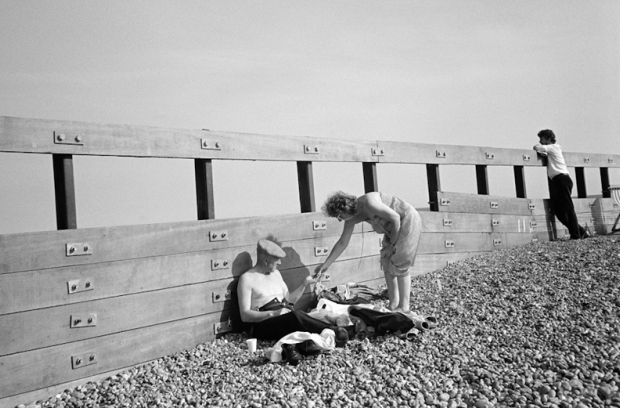 A traditional couple on Brighton beach